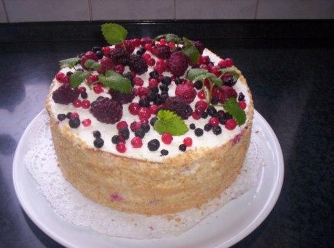 túró-gyümölcs torta